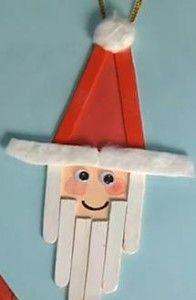 Babbo Natale con i bastoncini del gelato