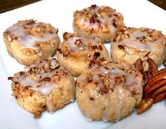 Mini Pecan Sweet Rolls made with Pamelas gluten free bread and baking mix!