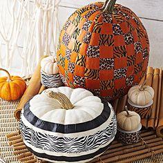 No-Carve Animal Print Pumpkins
