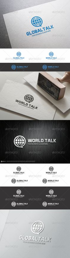 World / Global Talk Logo Template – Simple, clean and modern logo template perfect for a wide range of new media businesses like: Global Network, Translation Services, Marketing, Advertising, Communication, Chat, Forum, Blog or Mobile Application.