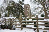 English Churchyard in the snow