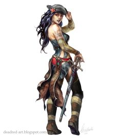 Designer Clothes, Shoes & Bags for Women Pirate Art, Pirate Woman, Pirate Life, Pirate Ships, Dnd Characters, Fantasy Characters, Female Characters, Fantasy Women, Fantasy Girl