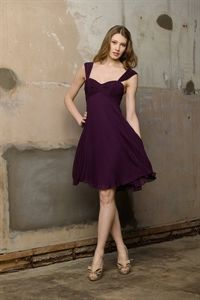Short Homecoming Dresses 2012, Purple Chiffon Bridesmaid Dress, Plum $95.00