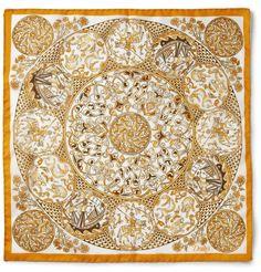 Drake's - Printed Silk Pocket Square|MR PORTER