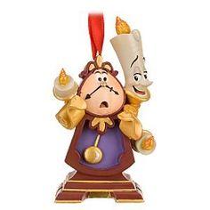 Amazon.com: Disney Store Cogsworth and Lumiere Ornament: Furniture & Decor