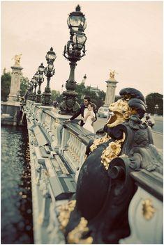 Pont Alexandre III bridge Paris © Djamel Photography   French Wedding Style