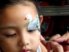 "▶ Face Painting ""SWAN"" Eye design - YouTube"