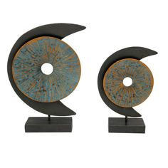 Buy the Moes Home Collection Multi-Colored Direct. Shop for the Moes Home Collection Multi-Colored Two Piece Metal Blue Moon Statue Set and save. Metal Wall Sculpture, Wall Sculptures, Contemporary Furniture, Modern Contemporary, Moe's Home Collection, Blue Moon, Home Collections, Decorative Objects, Accent Decor
