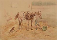 "Kossak Juliusz (1824-1899) ""W stajni"""