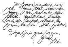 Study of handwriting and signatures hair