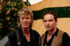 Bono and David Bowie #u2NewsActualite