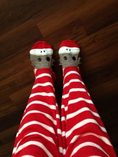 Footie pajamas for adults! Love sock monkeys! My sister gave me these for christmas