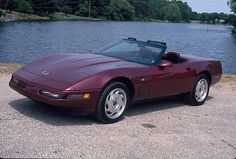 """All 1993 Corvettes were """"40th Anniversary"""" models. This convertible features special Ruby Red paint and matching leather-lined cockpit."""