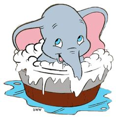 Dumbo is the Disney movie. It stars Dumbo, an elephant with big ears who is ridiculed for them. Dumbo Baby Shower, Baby Dumbo, Disney Magic, Disney Art, Disney Movies, Cute Disney, Baby Disney, Dumbo Disney, Disney Cartoons