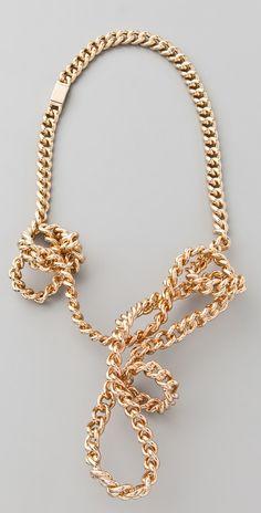 maison martin margiela  twisted necklace.