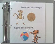 Interactive book for language lesson/activity about opposites - SLP ideas
