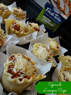 Kraft Fresh Take helped me create Spinach Lasagna Cups that are easy, delicious and best of all perfect for picking up and eating on the go! #FreshTake #shop #cbias