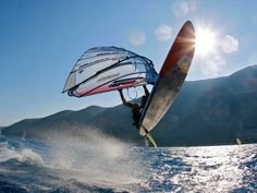 Windsurfing holidays, windsurfing lessons in Greece or Egypt Surfing Tips, Greece Holiday, Sup Surf, Big Waves, Water Photography, Windsurfing, Big Challenge, Surfboard, Egypt