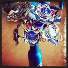 Beer Can bouquet for redneck wedding or bachelorette party!!!