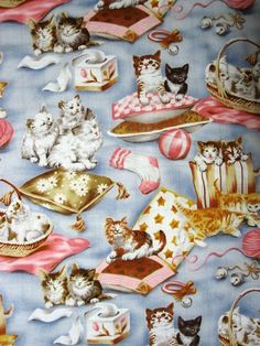PILLOW CATS-- PADDED COVER FOR 18X49 IRONING BOARD #CUSTOMMADEIRONINGBOARDCOVER Ironing Board Covers, Cat Fabric, Boards, Pillows, Cats, Fabrics, Ebay, Planks, Tejidos
