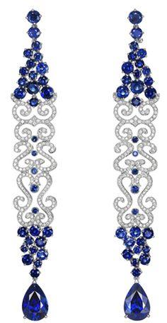 Chopard - Sapphire & Diamond Earrings