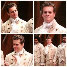 Jonathan Groff, curtain call Hamilton Broadway opening night 6 Aug 2015