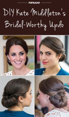 Give yourself a Kate Middleton hair makeover.