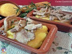 Polenta alla Castellana ricetta primi piatti facile da preparare buonissima e ideale per i periodi invernale freddi meglio la farina di mais gialla bramata