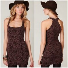Free People Animal Print Bodycon Dress Sexy animal print dress in maroon/black. First pic is the same dress in brown/black. Stretchy, comfy fabric. 61% rayon, 36% poly and 3% spandex. SK062816040 Free People Dresses