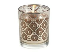 Cinnamon Cider Metallic Glass Candle by Aromatique