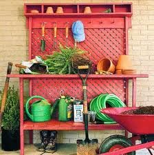 I patterned my potting bench after this one.