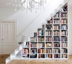 Marc Koehler Architects Bookshelf Staircase