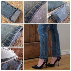 Praktický spôsob, ako skrátiť džínsy | Chcete skrátiť džínsy a zachovať šev ? tu je malý návod ..