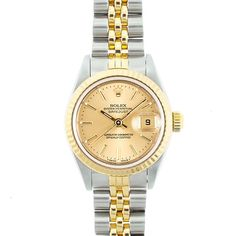 Used Pre-owned Rolex Datejust Women's Champagne Dial Watch