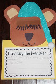 Tops & Bottoms Bear Writing and Craft...MrsLeesKinderKids