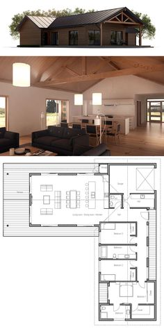 Container House - Plan de Maison Who Else Wants Simple Step-By-Step Plans To Design And Build A Container Home From Scratch? New House Plans, Modern House Plans, Small House Plans, House Floor Plans, Barn Home Plans, Building A Container Home, Container House Plans, Container Homes, L Shaped House