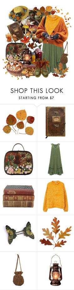 """falling leaves"" by pastellilapsi ❤ liked on Polyvore featuring Chanel, Champagne, MANGO and vintage"