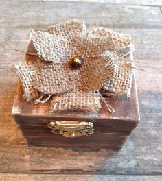 Rustic distressed brown and burlap ring bearer by WeddingDistinct, $14.99