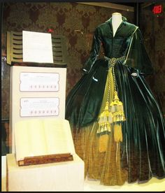 This is the original costume of Scarlet O'Hara  shown in one of my favorite scenes in the movie when she rips down the drapes and makes a dress out of it. I love beautiful drapes and I tell my client that in pinch they can make a fab dress out them. Gone with the Wind,was a world wide sensation in the 1930's.