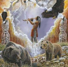 Offering of the First Nation's People...By Artist Unknown...
