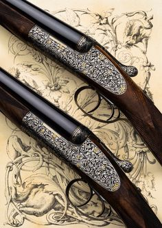 We are frequently asked if we build sidelock shotguns, as most people associate Westley Richards with the hand detachable lock gun. The answer is that we most certainly do build sidelock guns for those customers who prefer that design. Hunting Rifles, Hunting Gear, Crossbow Hunting, Side By Side Shotgun, Gun Decor, Hunting Stores, Gun Art, Shooting Guns, Fantasy Weapons