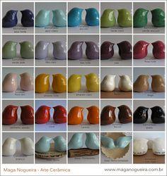 Cerâmica Maga Nogueira: Passarinhos - Todas as Cores