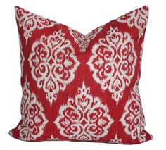 Red outdoor pillow cover, 18x18, Valentine pillow, Outdoor decorative pillow, Throw pillow, Valentine decor, Outdoor cushion, Accent pillow by PillowCorner on Etsy
