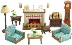 12 Some of the Coolest Tricks of How to Improve Sylvanian Families Cosy Living Room Set - Basteln mit kindern 3 Piece Living Room Set, Living Room Sets, Family Furniture, Living Room Furniture, Outdoor Furniture, Family Dining Rooms, Family Room, Accessoires Lps, Sylvanian Families House