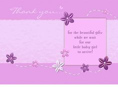 baby shower thank you cards wording for friends