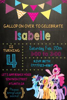 My Little Pony Birthday Party Invitation by SweetSimplySouthern Plus