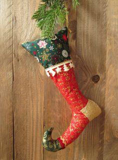 #EtsyGifts Christmas Hanging Stockings von HolzundLeinen auf Etsy