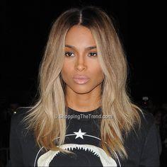 Ciara blonde hair at Givenchy show - Paris Fashion Week - want this color/cut