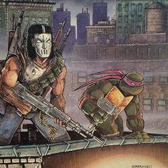 Raphael & Casey Jones - Teenage Mutant Ninja Turtles