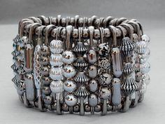 Safety Pin Bracelet - Stunning Silver. $25.00, via Etsy.